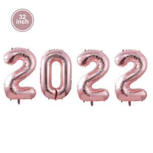 32/40 Inch Number 2022 Balloon Colorful Aluminum Foil Christmas New Year Decor H