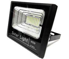 Faro Energia Solare LED con Pannello Faretto crepuscolare Telecomando 40w