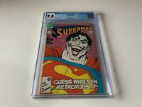 SUPERMAN 9 CGC 9.8 WHITE PAGES THE JOKER AS SUPERMAN DC COMICS 1987