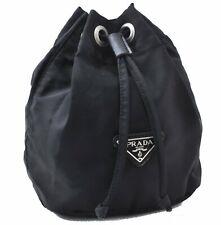 Authentic PRADA Nylon Pouch Black A5206