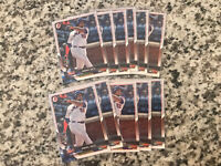 2018 Bowman Dominic Smith #55 Mets 11 Card Rookie Lot