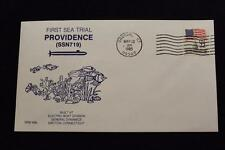 DRW NAVAL COVER #66 1ST SEA TRIAL USS PROVIDENCE (SSN-719) 1985 MACHINE CANCEL