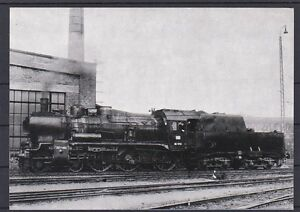 Eisenbahn Motivkarte Dampflokomotive 38 1701 mit falscher Beschreibung hinten