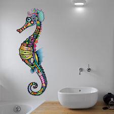 Abstract Seahorse Colour Bathroom Wall Sticker Vinyl Decal Wall Art Transfer