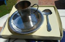 Baby Feeding Set Bears France Silver Plated 3 Pieces