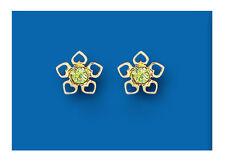 Peridoto Pendientes Rosca Corazones pendientes de oro amarillo Natural peridoto