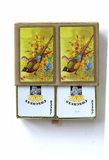 CANASTA Vintage Playing Cards by Congress Pheasants Quails Full Double Deck Game