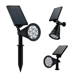 7 LED Discoloration Solar Lights Insert Floor Lawn Garden Lights Party Lights-UK
