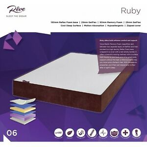 Reve Ruby Premium Hybrid Mattress with Cool Gelflex Filling