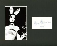 Gloria Steinem Feminist Journalist Playboy Bunny Signed Autograph Photo Display