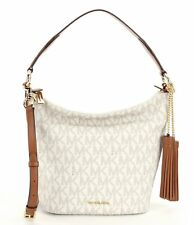 Michael Kors Elana Medium Signature PVC Convertible Shoulder Tote Bag (Vanilla)