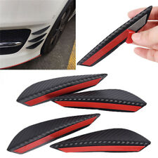 4× Carbon Fiber Car Front Bumper Splitter Fin Spoiler Canards Exterior Body as