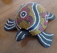 tortue en bois décor mandala Indonésie