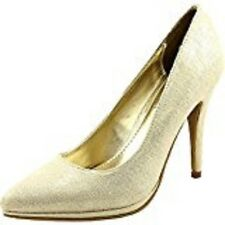 Mari A. Womens Gala Dress Pumps Gold Metallic 7 M US Orig $60