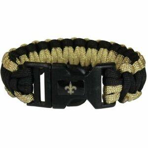 New Orleans Saints Paracord Survival Bracelet Sport Jewelry Strap NFL Football