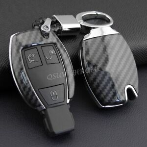 Car Key Fob Chain For Mercedes-Benz Accessories Keychain Ring Cover Case Black