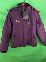 Moerdeng Women's Purple Mountain  Jacket Hooded Size Medium Good Quality Nwt