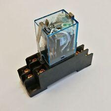 US Stock LY2NJ HH62P-L JQX-13F Relay 110V AC Coil 10A & PTF08A Socket Base