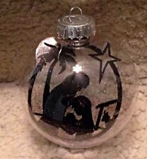 "Christmas nativity ornament-Floating ornament-4"" Glass ball ornamenr"