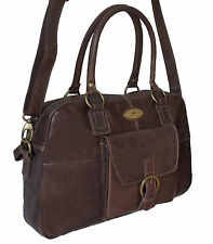 60% Off Rowallan Women's Brown Leather Shoulder Bag, Large