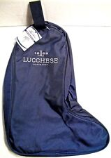 Genuine Lucchese Navy Blue Boot Bag for travel / storage w/zippered compartments