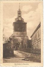 Kirche mit Kriegerdenkmal, Ak mit Landpoststempel Oberellen, Eisenach Land