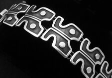 Vintage Modernist Taxco Mexico Mexican Sterling Silver Bracelet 24794