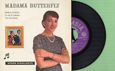 MARIA CALLAS / Madama Butterfly / COLUMBIA SCBK 6 Press Holland 195? EP EX