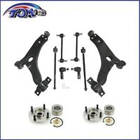 Control Arm Kit w/ Wheel Hub Bearing Assembly For 2007 Ford Focus