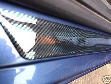 Universal Domed Carbon Fibre Car Door Sills Sill Protectors, kick plates x 4