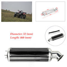 32MM Aluminum ATV Off-road Motorcycle Exhaust Silencer Pipe Muffler Pit Durable