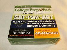 New Southwestern College Prep Pack Kaplan Test SAT PSAT ACT Britannica 7 DVD-ROM