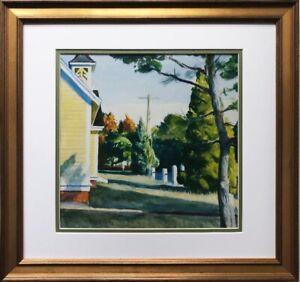 "Edward Hopper ""Church in Eastham"" (Detail) New FRAMED Art Americana Cape Cod"