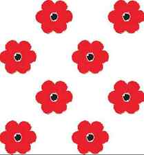 Red Flowers At Large Gift Wrap Tissue Paper 10 Printed, Patterned Sheets