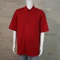 Jack Nicklaus Performance Golf Men's LARGE Bright Solid Red Short Sleeve