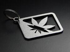 """Schlüsselanhänger """"Cannabis"""" 420 THC Joint - hochwertiger Edelstahl gebürstet"""