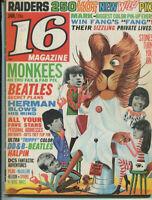 16 Magazine Jan 1967 Raiders Monkees Beatles Herman Hermits Dave Clark 5   MBX89