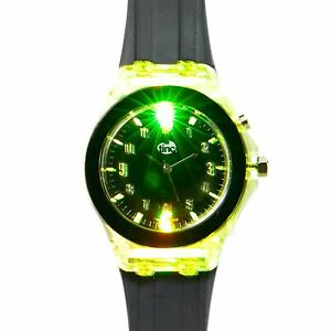 Tinc Light Up Children's Watches Learn To Tell Time Analogue Wrist Watch - Black