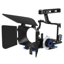 DSLR Rig Video Camera Cage Follow Focus Handle Grip  Film Movie Set H5T8