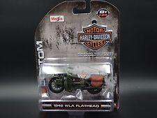 1942 WLA FLATHEAD MILITARY HARLEY DAVIDSON MOTORCYCLE BIKE 1:24 DIECAST