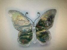 Thomas Kinkade Gardens of Paradise, KINDNESS  Crystalline Butterfly Sculpture
