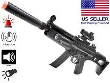 MP5 Style Fun Toy Prop Submachine Gun Sound Flash Vibration Light Kid 3+