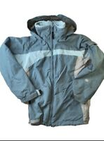Columbia Womens Convert Snowboard Ski Jacket Blue Color Block Zip Up Hooded S