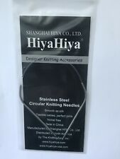 SHARP CIRCULAR KNITTING NEEDLE 12 INCH HIYA HIYA SIZE 3 30 CM 3.25 MM
