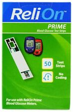 ReliOn Prime Blood Glucose Test Strips - 50 Count- May/2021- FREE SHIPPING
