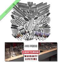 413 Pc Craftsman Mechanics Tool Set Deep Sockets Ratchet Wrench Bits SAE Metric