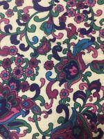 Vintage Flannel  Fabric 86 cm wide x 1.80 metres - Jacobean design - Stunning