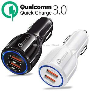 Dual USB 3.1A Car Charger Adapter 3.0 Fast Charging For iPhone & Android phones
