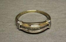 "Vintage Estate 10K Gold "" LOVE "" Diamond Baguette Wedding Band Promise Ring Sz 7"