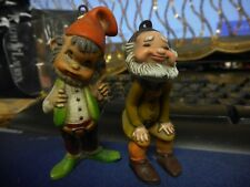 """Figurines Of Two Elves About 2"""": Each Very Cute And Well Made/Have Hangars/"""